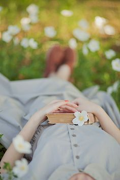 Read a book in a meadow of flowers. . .