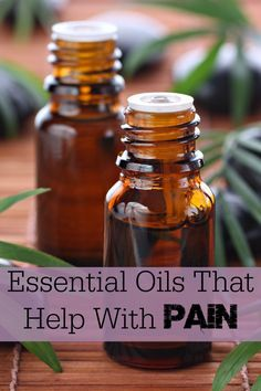 Awesome list of essential oils that can help with pain!