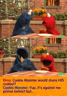 Cookie Monster would share his cookie with Elmo? Of course! Find out why by watching this cute video. Kids will learn how fun sharing with friends is. https://www.youtube.com/watch?v=KTFJ9gjfAXg #quotes #sesamestreet