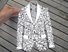 Groom Jacket PDF Printable For Hand Cutting And SVG File
