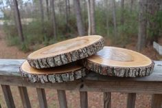 With your purchase of this listing, you will receive 1 of these exact same type of wood slices you see in the photos! Each wood slice is between in diameter and 1 thick. These are treated for you to use for years to come! The most popular uses incl Wood Slab Centerpiece, Rustic Wedding Centerpieces, Wedding Table Centerpieces, Table Decorations, Shower Centerpieces, Wood Slices Wedding, Wedding Reception Flowers, Wedding Ideas, Wedding Decor
