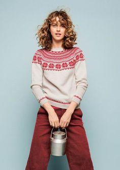 """Melkegenseren"", Mjölktröja till Dam i Sisu Crochet Pattern, Knitting Patterns, Baby Knitting, Knitwear, Diy And Crafts, Sweaters For Women, Pdf, Creative, How To Make"