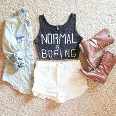 •♡• cute. great for a summer concert outfit