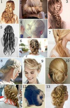 I want to learn 2 & 13, the rest I am okay with not knowing! #hair #color #style #hairstyle #haircolor #women #girl #beautiful #colorful #trend #