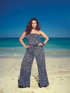 Printed Jumpsuit...Available at Addition Elle, your plus size fashion destination #plussize