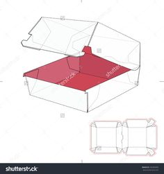 Fast Food Sandwich Burger Box With Die Line Template Stock Vector Illustration 436305085 : Shutterstock
