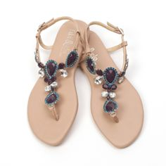 Fibi & Clo Navy Positano Sandals- chic, comfy  & inexpensive what more could you want? Www.fibiandclo.com/jessicadharris to order