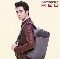 Samsonite RED GENIO BACKPACK L_GREY CF model Famous hero Kim Soo-hyun  #SamsoniteRED #Backpack