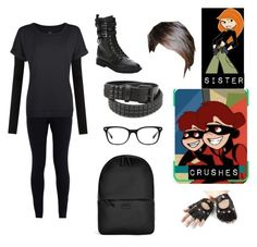 """""""Me in Kim Possible"""" by potatolover123 ❤ liked on Polyvore featuring interior, interiors, interior design, home, home decor, interior decorating, Ray-Ban, NIKE, Aspinal of London and American Vintage"""