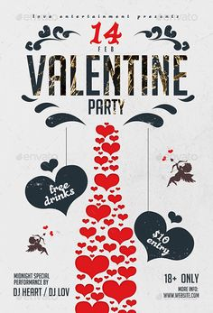 valentine's day flyer template word