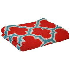 Trellis Eco Throw in Coral & Cerulean