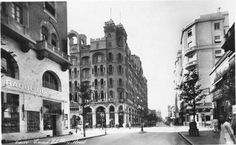 Emad El Din St, Cairo, Egypt, 1930s. The photo shows Davies Bryan store building in Cairo which is still in place to date.