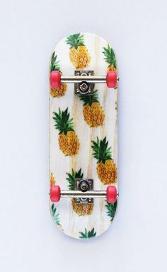 pineapple printed skateboard for summer cruising
