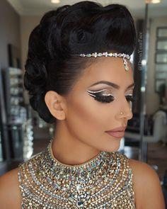 cut crease stamp for eye Exotic Makeup, Indian Makeup, Beauty Makeup, Eye Makeup, Hair Makeup, Hair Beauty, Glam Makeup, Makeup Geek, Bridal Makeup