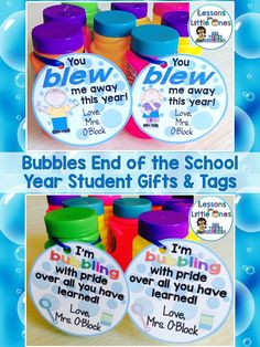 Creative & inexpensive student gift ideas for the end of the school year. Also includes ideas for the student gift tags. Easily create personalized mementos for your end of the year celebration or graduation.