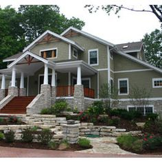 Craftsman Exterior- If I ever get the chance to build my own home, it would look like this on the outside!!!