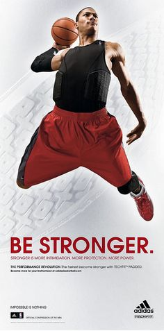 "Derrick Rose  Adidas Ad  ""Be Stronger"" tagline     Watch the NBA's Elite players put in work    http://elitegreatness.com/inspiration/elite-nba-players/"