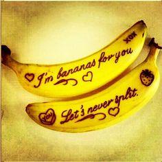 "Love is...""never split a banana split"""
