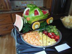 Construction Dump Truck Birthday Party - Bulldozer Watermelon Carving