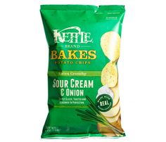 Kettle Brand Bakes Potato Chips Sour Cream & Onion cals, g fat per 1 oz) Healthy Chips, Good Healthy Recipes, Healthy Foods To Eat, Diet Recipes, Healthy Snacks, Healthy Eating, Amazing Recipes, Best Potato Chips, Best Chips