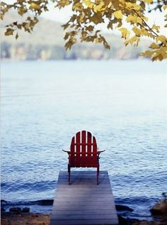 just add wine - adirondack, water, a dock, fresh air, good book Peaceful Places, Beautiful Places, Le Havre, Jolie Photo, Lake Life, My Happy Place, Strand, The Great Outdoors, New England