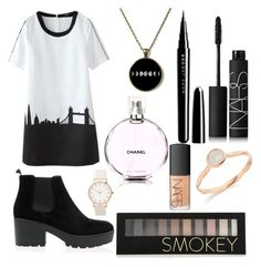 """""""Untitled #13"""" by kartseva-ana on Polyvore featuring Chanel, Marc Jacobs, NARS Cosmetics, Forever 21 and Monica Vinader"""