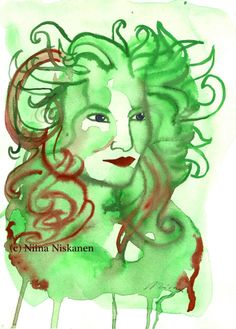 Fashion Illustration Queen of Everything Green Red Female Fashion Original Painting Watercolors Watercolor Artists, Watercolor Paintings, Watercolor Paper, Watercolors, Original Artwork, Original Paintings, Queen Of Everything, Illustration Artists, Fashion Illustrations