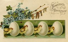 Пасхальные открытки с моей колекции.