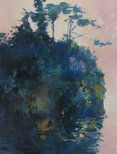 Estuary Island 2 (watermedia on yupo) - Randall David Tipton Abstract Landscape Painting, Landscape Paintings, Abstract Art, Art Painting Gallery, Art Gallery, Original Art, Original Paintings, Canvas Paintings, Watercolor Trees