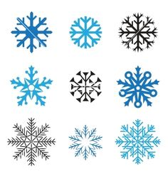 Different snowflakes vector - by romvo on VectorStock®