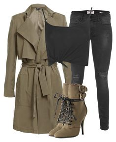 """Untitled #2631"" by xirix ❤ liked on Polyvore featuring Frame Denim, Balmain and Boohoo"
