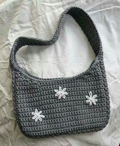 Mode Crochet, Diy Crochet, Crochet Crafts, Crochet Projects, Crochet Fashion, Diy Fashion, Fashion Bags, Ideias Fashion, Crochet Designs