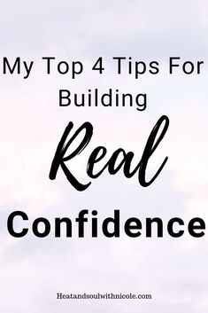 Here is 4 simple steps on how to build REAL confidence and overcome self-doubt and feeling self-conscious, so that you can live as your BEST self.Click through to read post. Building Self Confidence, Self Confidence Tips, Self Conscious, Self Talk, Anxiety Relief, Daily Affirmations, Going To The Gym, Best Self, Self Esteem