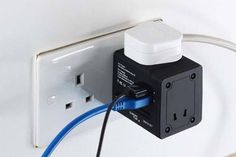 The Universal Travel Adapter with WiFi Router and Dual USB Charger - Study Abroad Gifts - Universal travel adapter - - The Universal Travel Adapter with WiFi Router and Dual USB Charger Travel Items, Travel Gadgets, Usb Gadgets, Wifi Router, Charger, Cool Things To Buy, Tech, Simple, Ideas