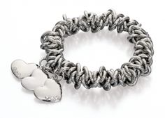 Fiorelli Elasticated Scrunchie Style Bracelet With 3 Heart Charms  £18.00  http://www.icejewellery.com/nataliewilkinson/1/