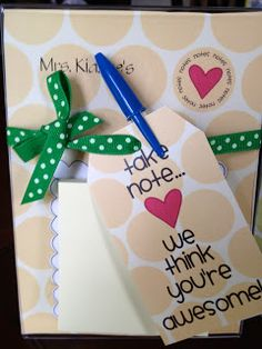 The second item I made for teacher appreciation week for under $5 is this adorable note holder from DomesticatedLady.com. You can download and print the template right at home. I chose to have them printed at Kinkos since I was out of card stock. I also like that fact that it will not run if it …