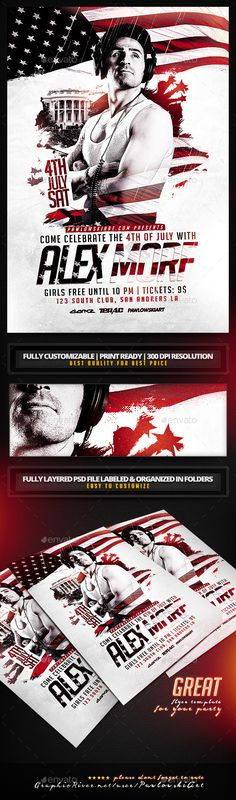 4th of July Special Guest Party Flyer Template - Holidays Events