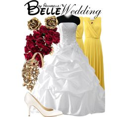 Belle - Wedding by annabelle-95 on Polyvore featuring Cédric Charlier, Jimmy Choo, Tiffany & Co., Disney Couture and Matthew Williamson
