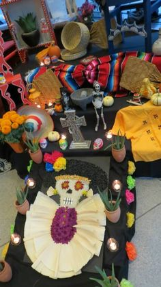 An altar by MAYAHUEL at the Museum's Day of the Dead party on Oct. 25, 2013.