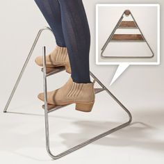 Jeeyoung Yang's Triangle Step Stool - beautiful design, and it folds to hang flat on the wall!