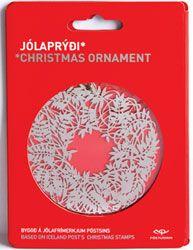 J10S4 - Jólaprýði Póstsins 2010 - Krans IV - Silfurlitað