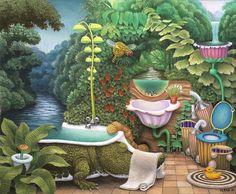 Pokój kąpielowy z cyklu Kieszonkowa dżungla