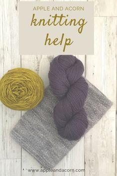 We have the information you need from patterns, yarn and needles to abbreviations. We have links to patterns and yarn recommendations. We basically love knitting!! Easy Knitting Patterns, Knitting Designs, Simple Knitting, Knitting Help, Yarn Needle, Acorn, Swatch, Crochet Hats, Diy Crafts