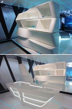 Tron Legacy Movie Kitchen. I want it!!
