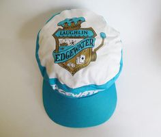 bd2b6043 80s Vintage Edgewater Hotel Casino Laughlin Nevada Painters Cap / Snapback  Hat