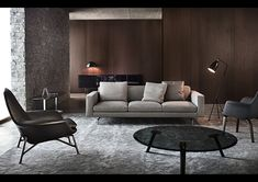 Minotti lifestyle // Gräshoppa, Gubi // looks like an updated Mad Men space.