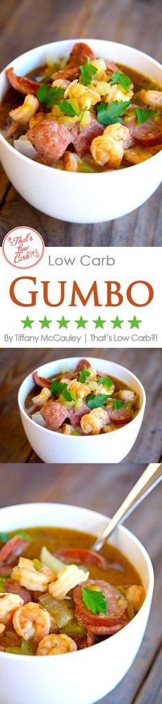 Low Carb Recipes | Low Carb Gumbo Recipe | Gumbo Recipes | Healthy Gumbo Recipe | Healthy Recipes ~ http://www.thatslowcarb.com