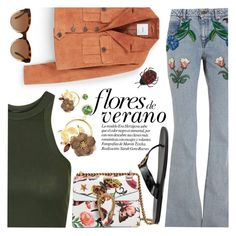 """Flores de Verano"" by ivansyd ❤ liked on Polyvore featuring Topshop, Gucci, MANGO, Michael Kors, Dolce&Gabbana, gucci and floraldenim"