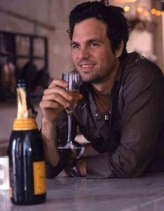 Mark Ruffalo...Wouldn't mind sharing a bottle of wine with him...