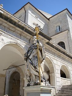St. Benedict Statue at Montecassino by Espino Family, via Flickr